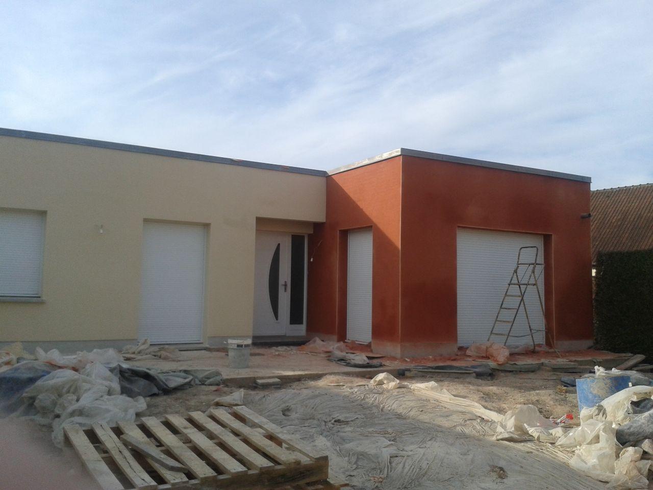 façade avant - avancée couleur brique