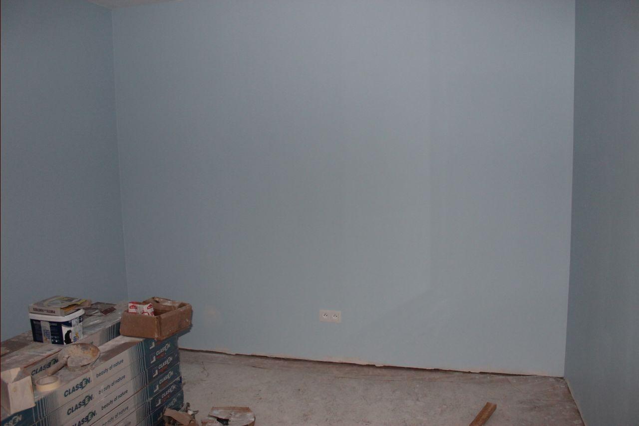 Plans vasques encore des cartons enduits st - Peinture bleu fjord ...