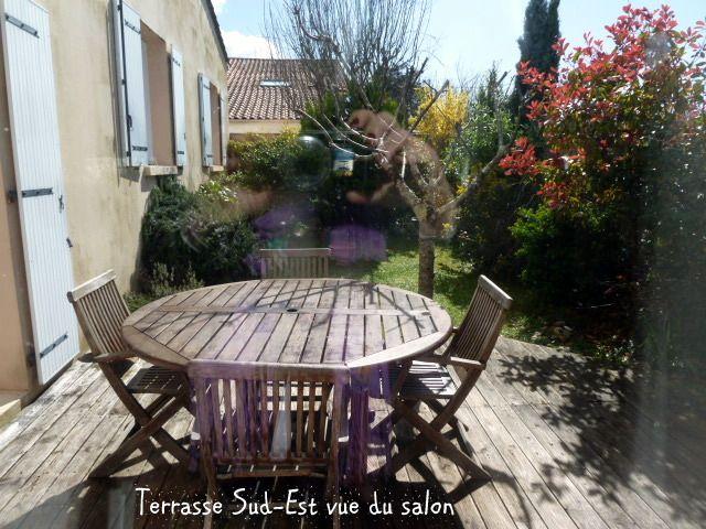 """2ème terrasse côté SO """"avant"""" en bois"""