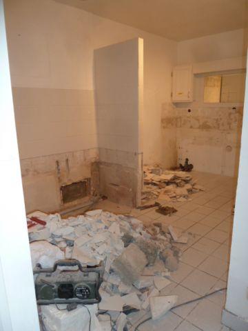 démolition des sanitaires de la salle de bains