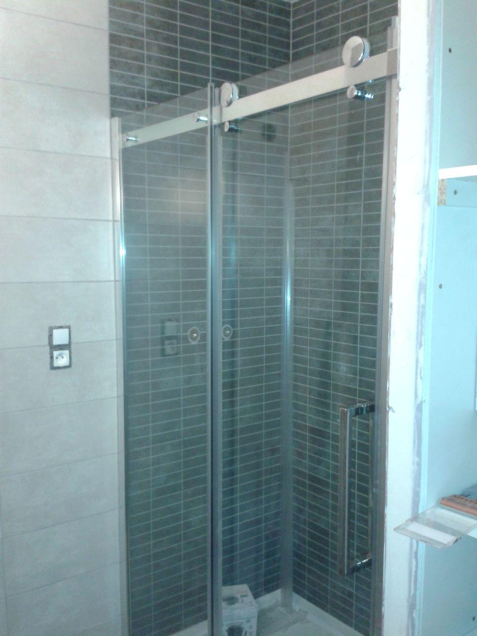 la paroi de douche