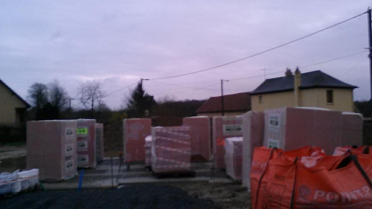livraison des brique rouge alvéolaires double foyers