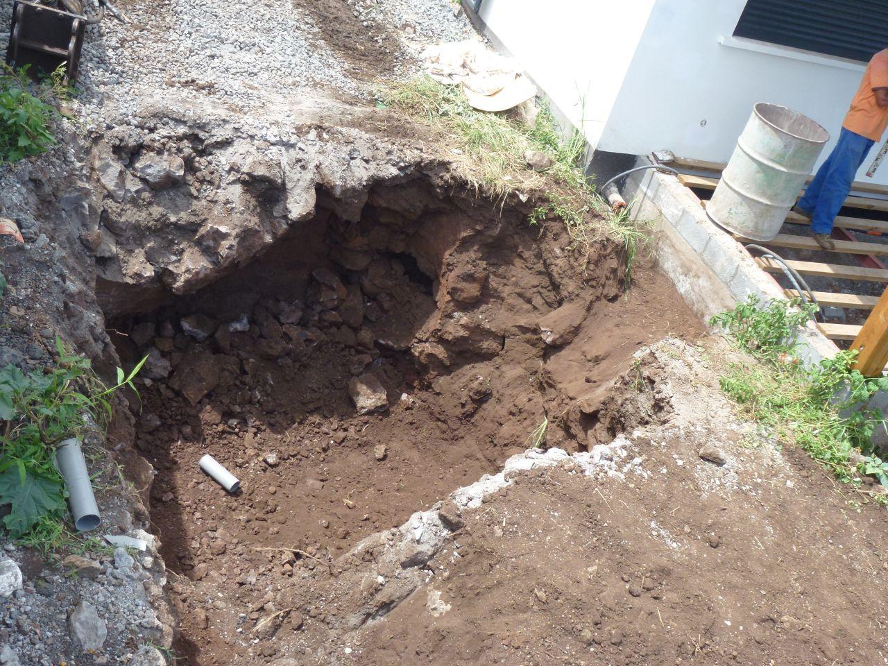 comblement de la zone de drain/épandage