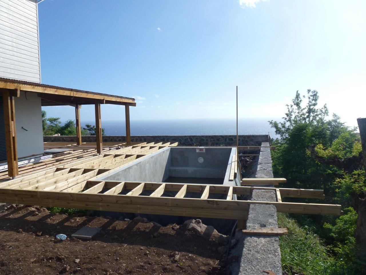 photo terrasse bois lattes le piton st leu reunion 974 f vrier 2015. Black Bedroom Furniture Sets. Home Design Ideas
