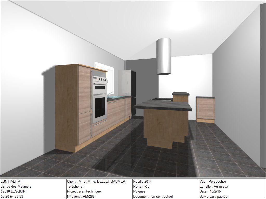 Vue 3d de notre future cuisine