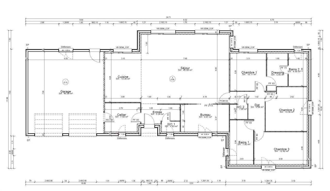 plan de maison kaufman