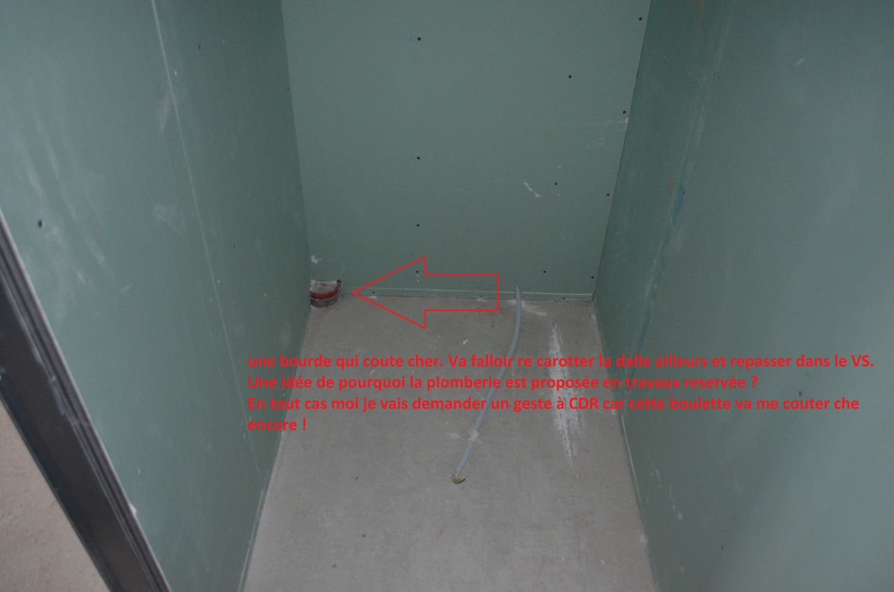 malfacon evacuation douche dans placo 9 messages. Black Bedroom Furniture Sets. Home Design Ideas