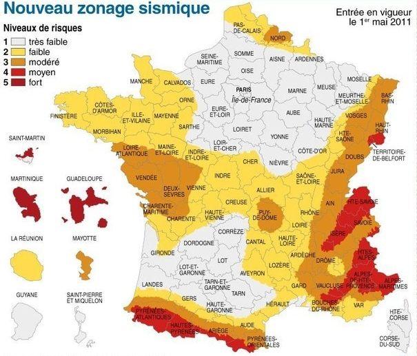 carte sismique