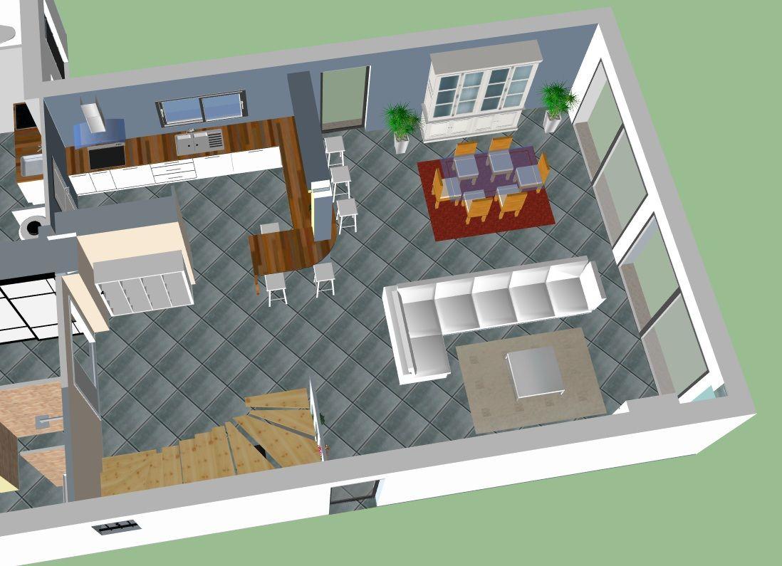 etude de sol am nagement piece de vie terrassement cugnaux haute garonne. Black Bedroom Furniture Sets. Home Design Ideas