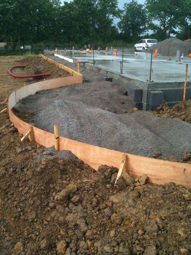 Ferraillage dalle mise en place b ton dalle - Preparation terrasse beton ...