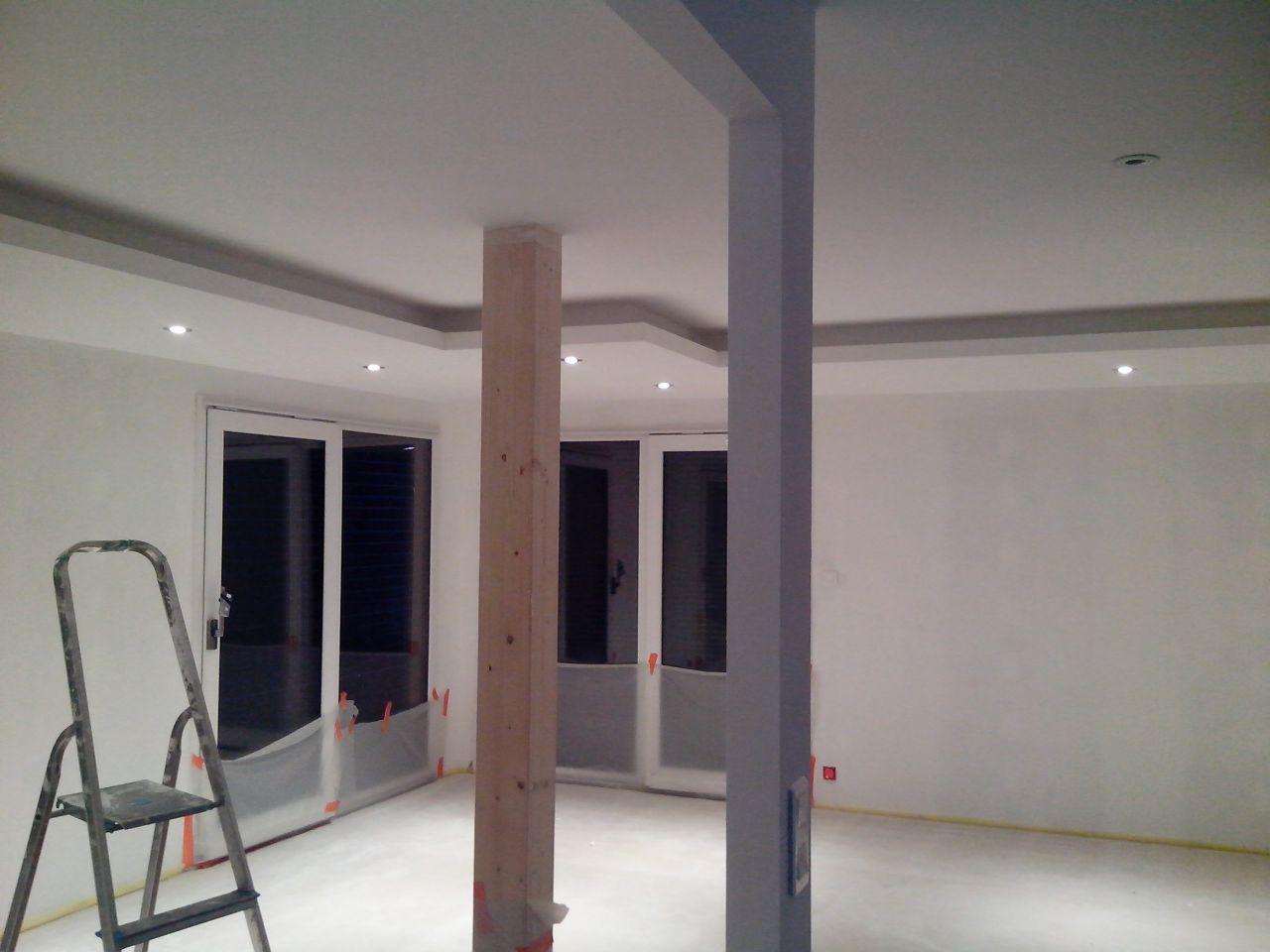mousse pu au sol et plancher chauffant plafond lumineux suite de la chape liquide vosges. Black Bedroom Furniture Sets. Home Design Ideas