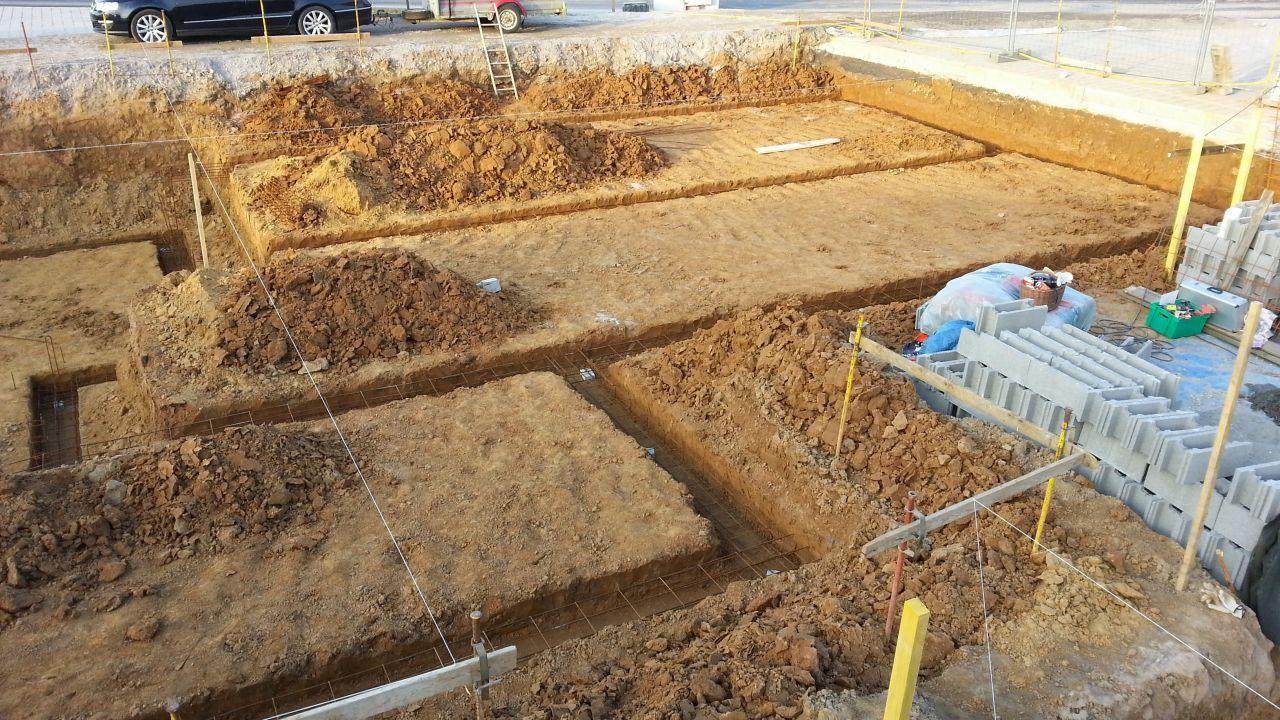 Ouverture des fondations vide sanitaire et cave