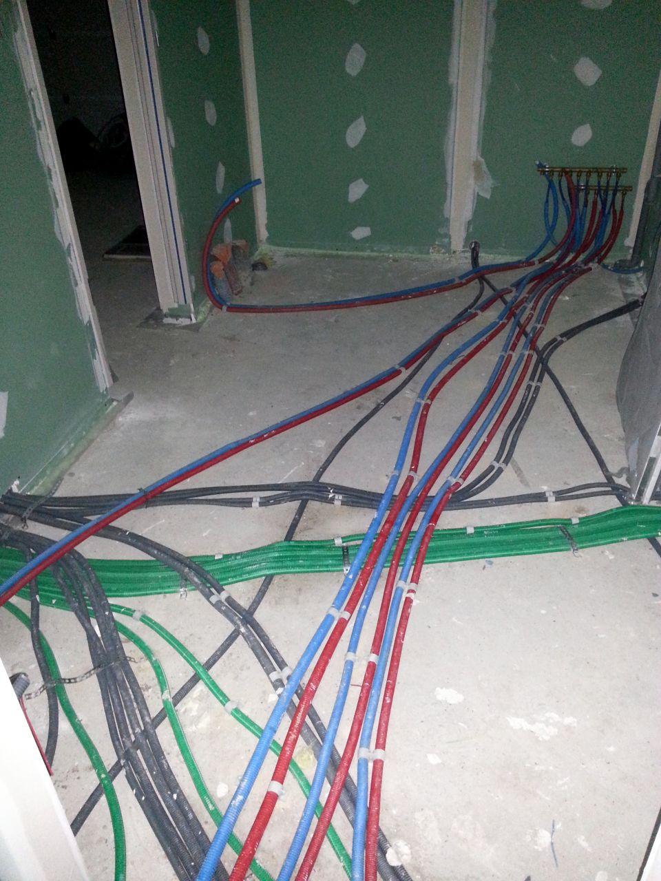 Electricité avant ravoirage cellier
