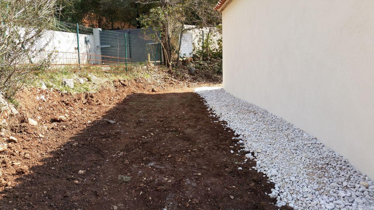 Remise en place des terres / drain / ballast protection
