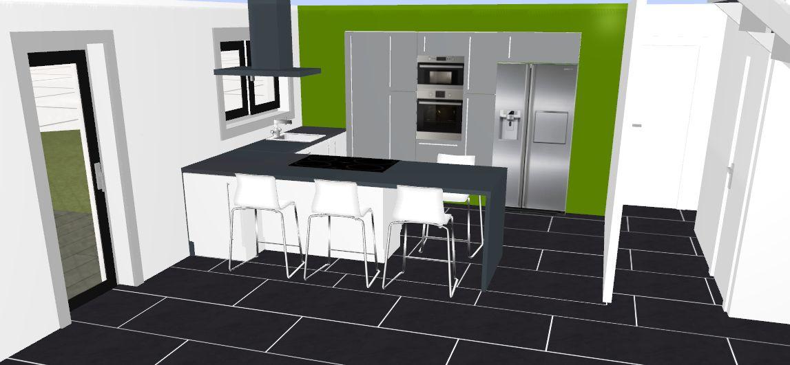 Idée d'implantation de la cuisine
