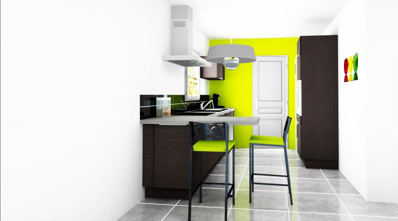 Vu 3D de notre futur cuisine