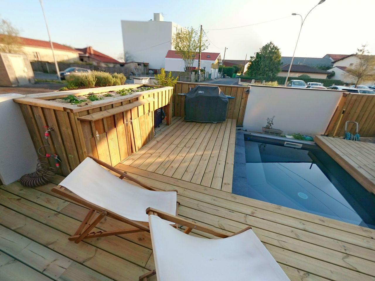 La terrasse est terminée.