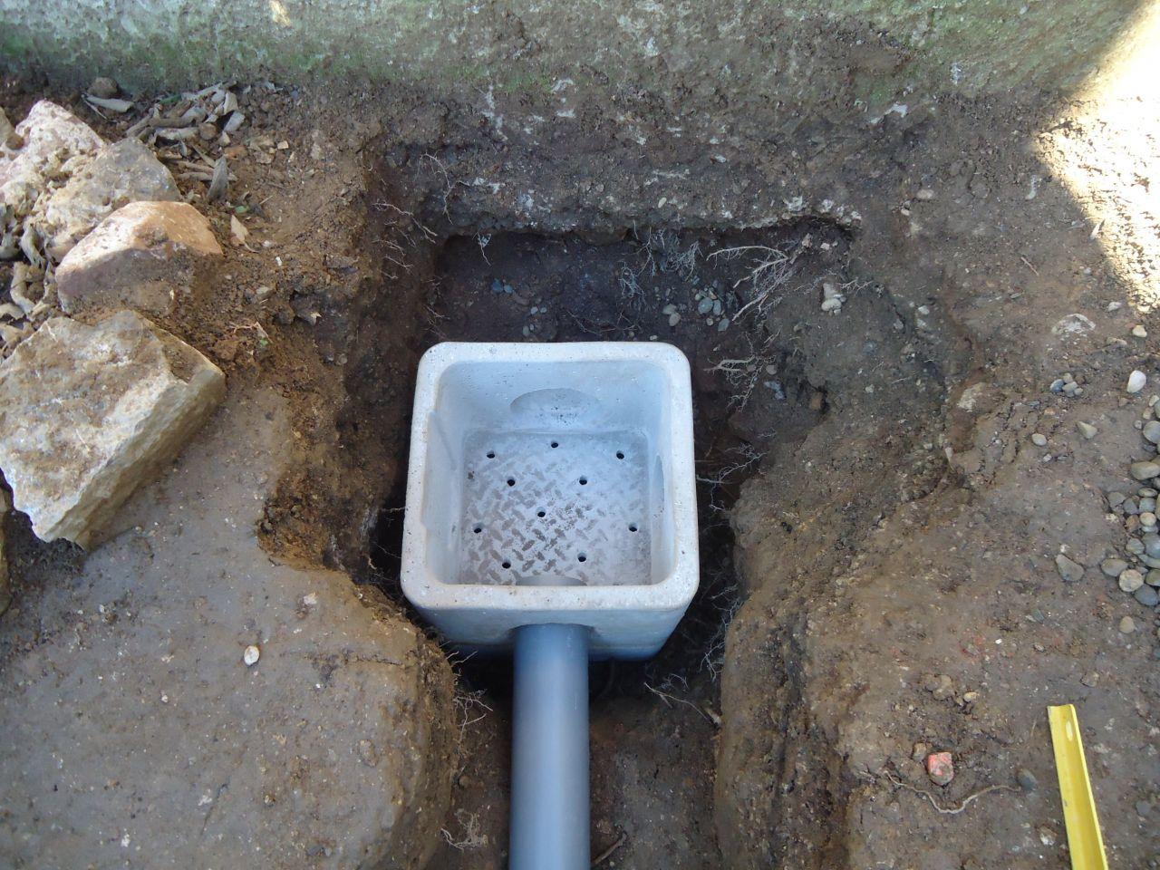 Sortie de la cunette cunette et puits perdu cavit s for Prix d un puit
