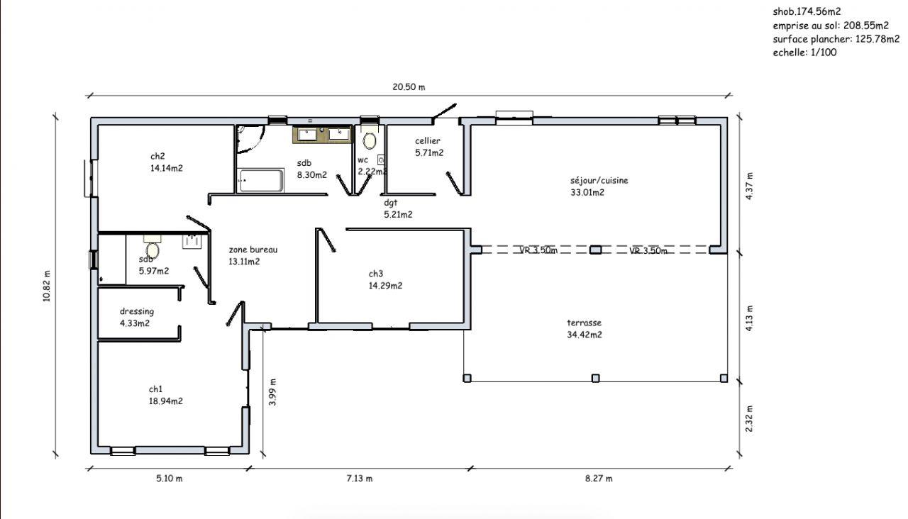 plan de maison antillaise segu maison. Black Bedroom Furniture Sets. Home Design Ideas