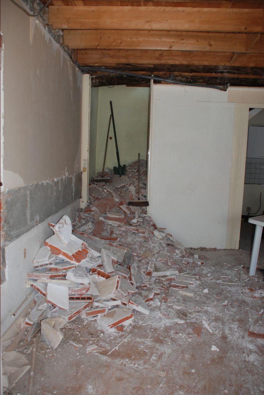 :on a cassé la salle d'eau en haut, de la brique cette fois :/