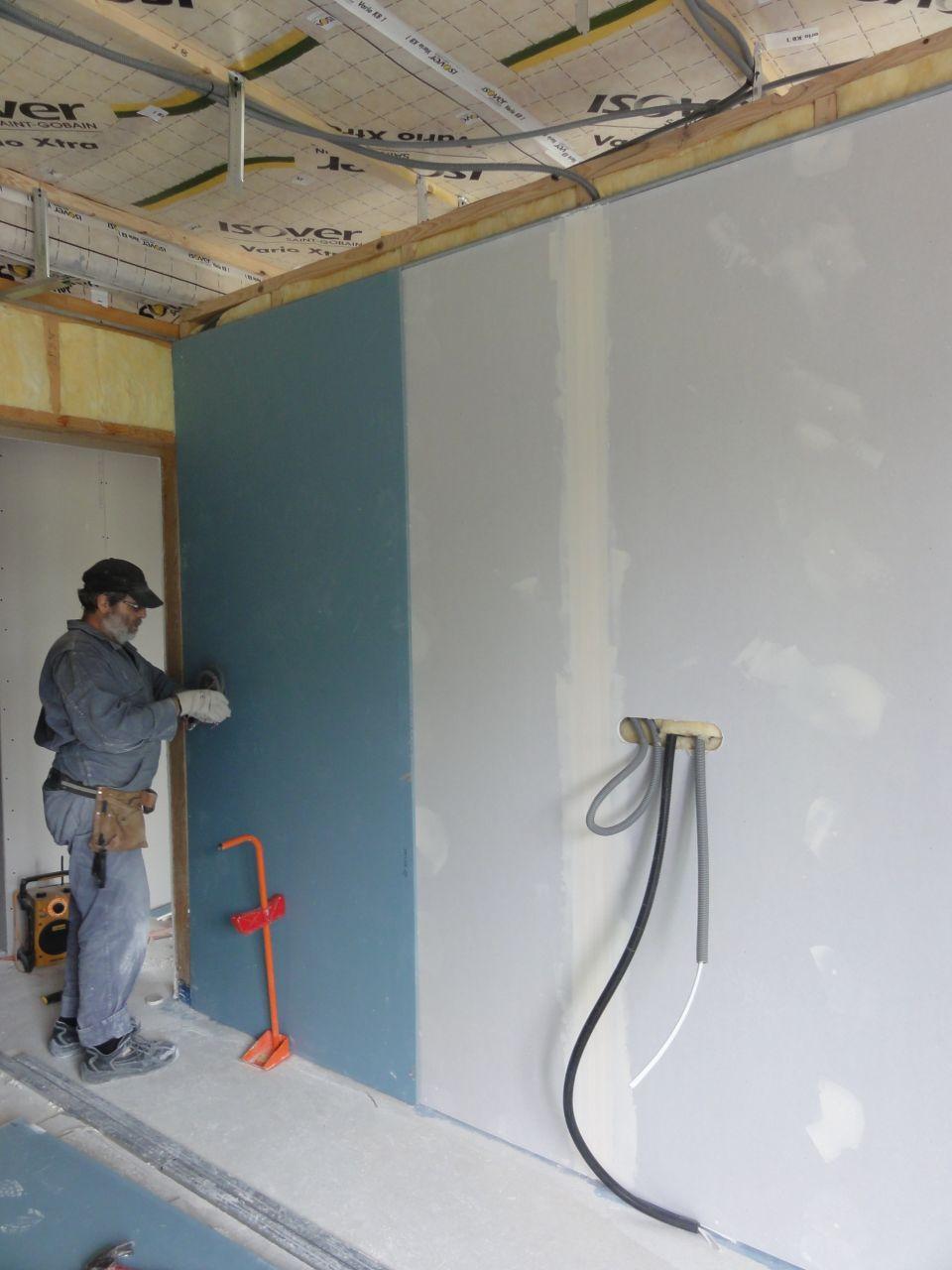 placo les murs placo les murs enfin les enduits. Black Bedroom Furniture Sets. Home Design Ideas