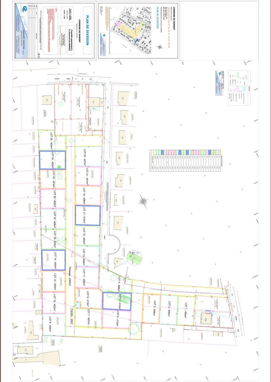plan du géomètre, nous avons le lot 24