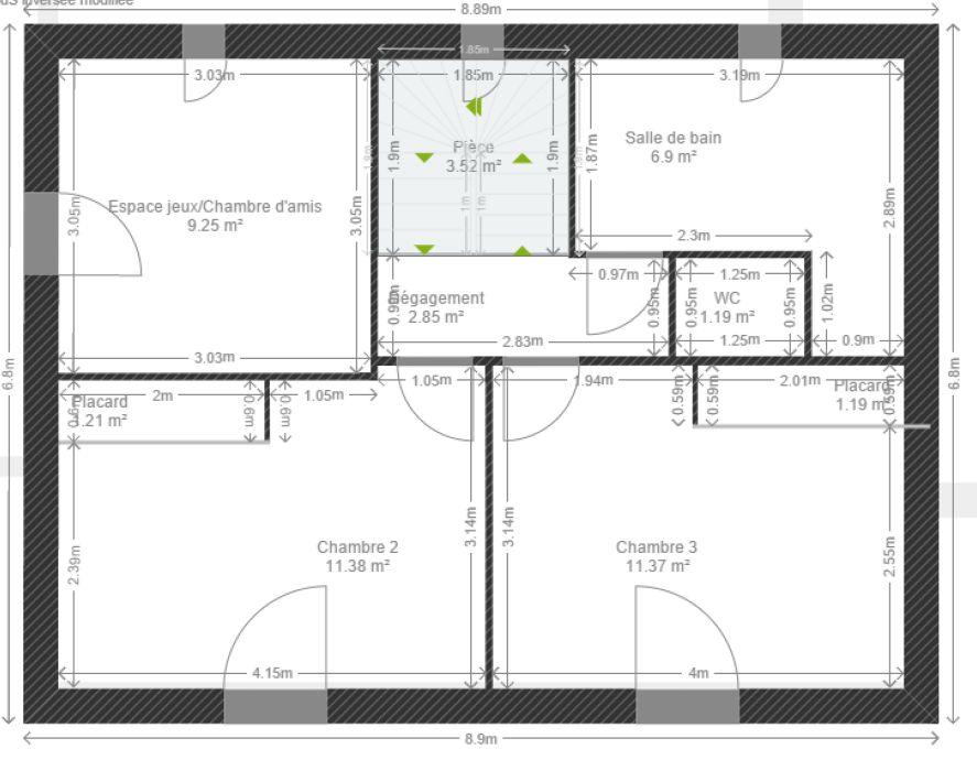 avis plans maison tage partiel 120 m 8 messages. Black Bedroom Furniture Sets. Home Design Ideas