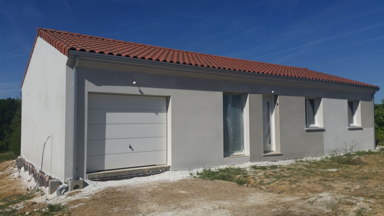 Photo weber blanc bleute 211 weber gris vert 276 enduit cr pis facade haute vienne 87 - Enduit facade weber ...