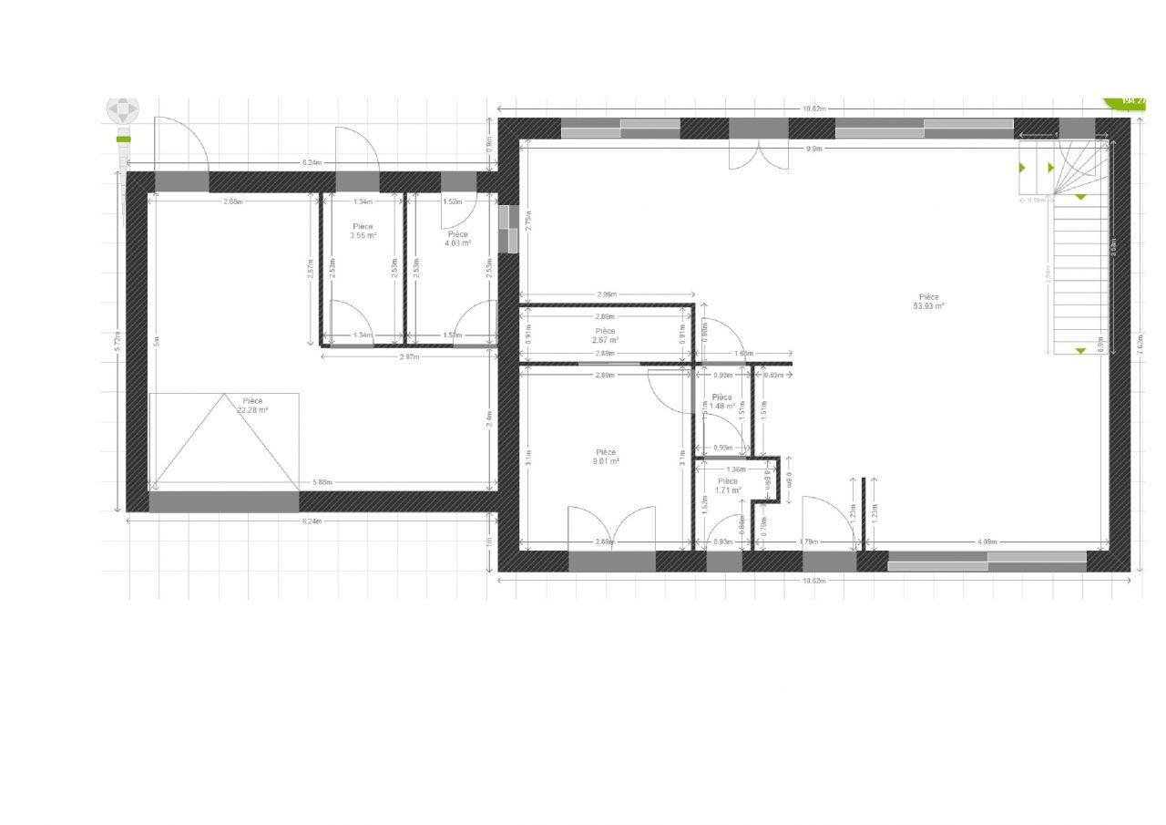 plan du RDC 2ème version idée archi