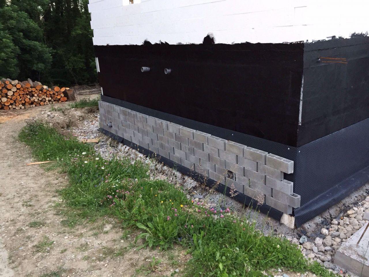photo d tail de l 39 etanch it des murs enterr s 2. Black Bedroom Furniture Sets. Home Design Ideas