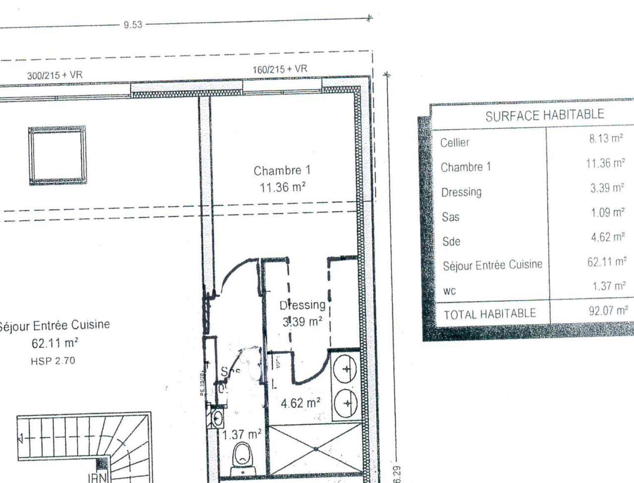 #27393F Maison De Ville Contemporaine Toit Mixte Pour Notre 2ieme  3119 plan suite parentale maison 1280x975 px @ aertt.com