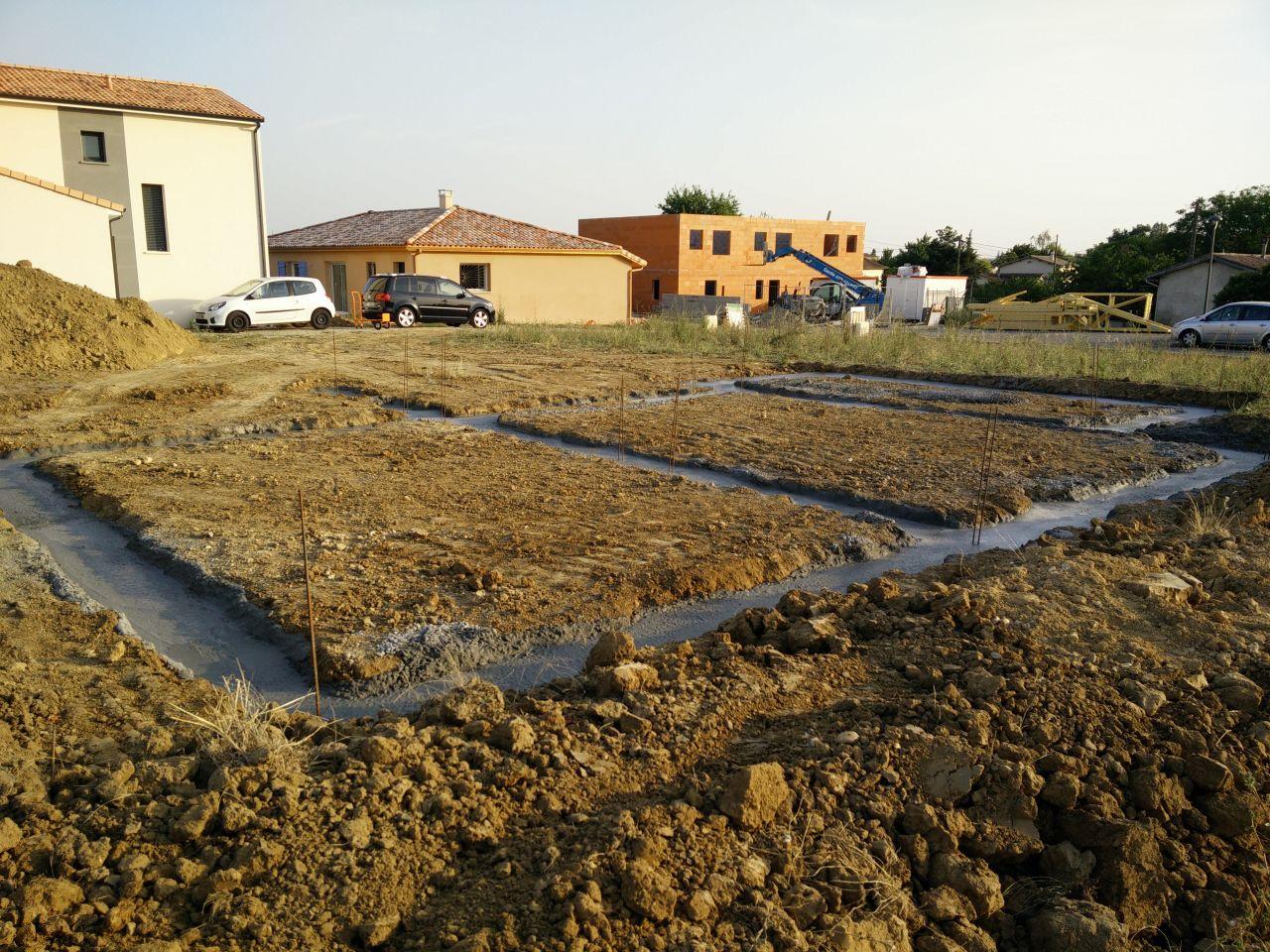 D but du chantier terrassement et fondations for Terrassement et fondation