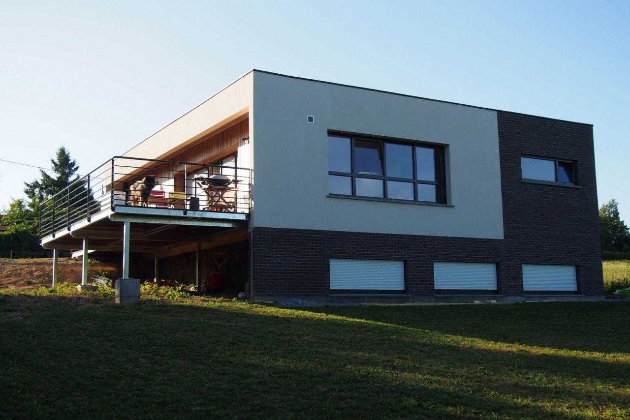 La terrasse terminée
