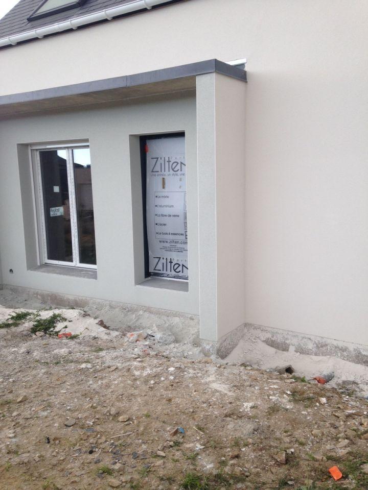 probl me enduit sur notre maison en construction. Black Bedroom Furniture Sets. Home Design Ideas