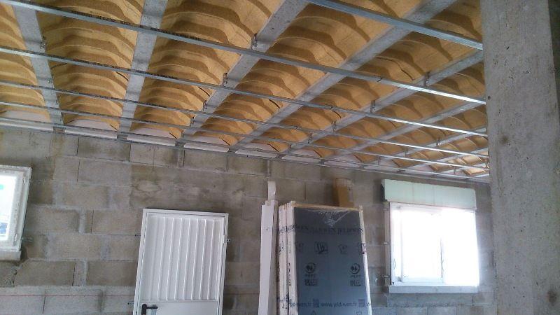 Cloison isol e entre garage et cuisine avec plafond for Chauffer un garage non isole