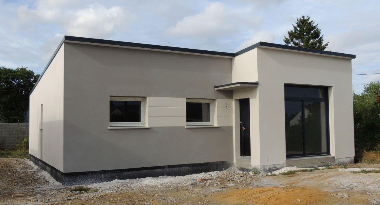 Votre avis sur plusieurs couleurs de menuiserie sur la - Maison grise et blanche ...