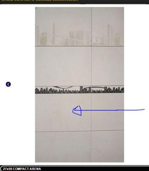 pour la salle d'eau hormis la cabine de douche, couleur beige claire, toucher rugueux comme le bois, sans dessin, donc le 3eme vers le bas