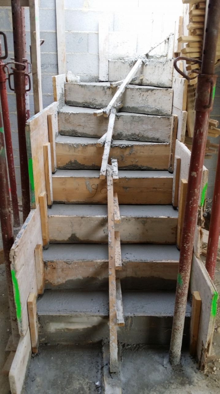 l'escalier est coulé !