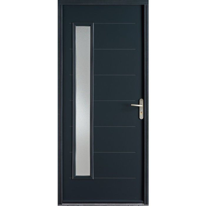 Porte BELM ABCISSE, option couleur grise