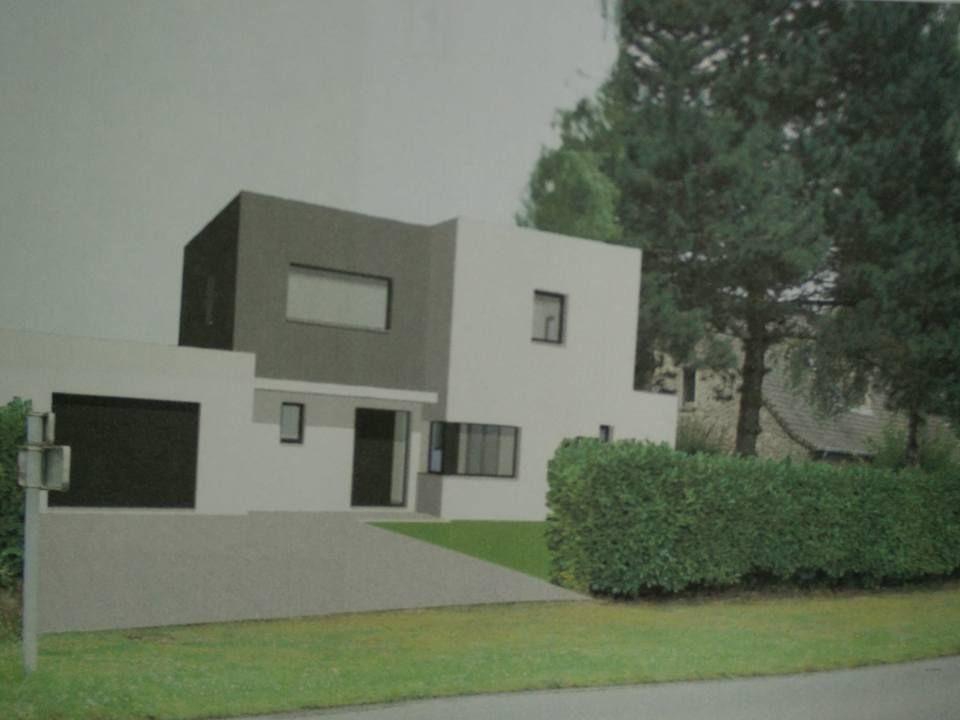 image de synthèse de notre maison sur le terrain, ce que ça pourrait donner dans environ 1 an !