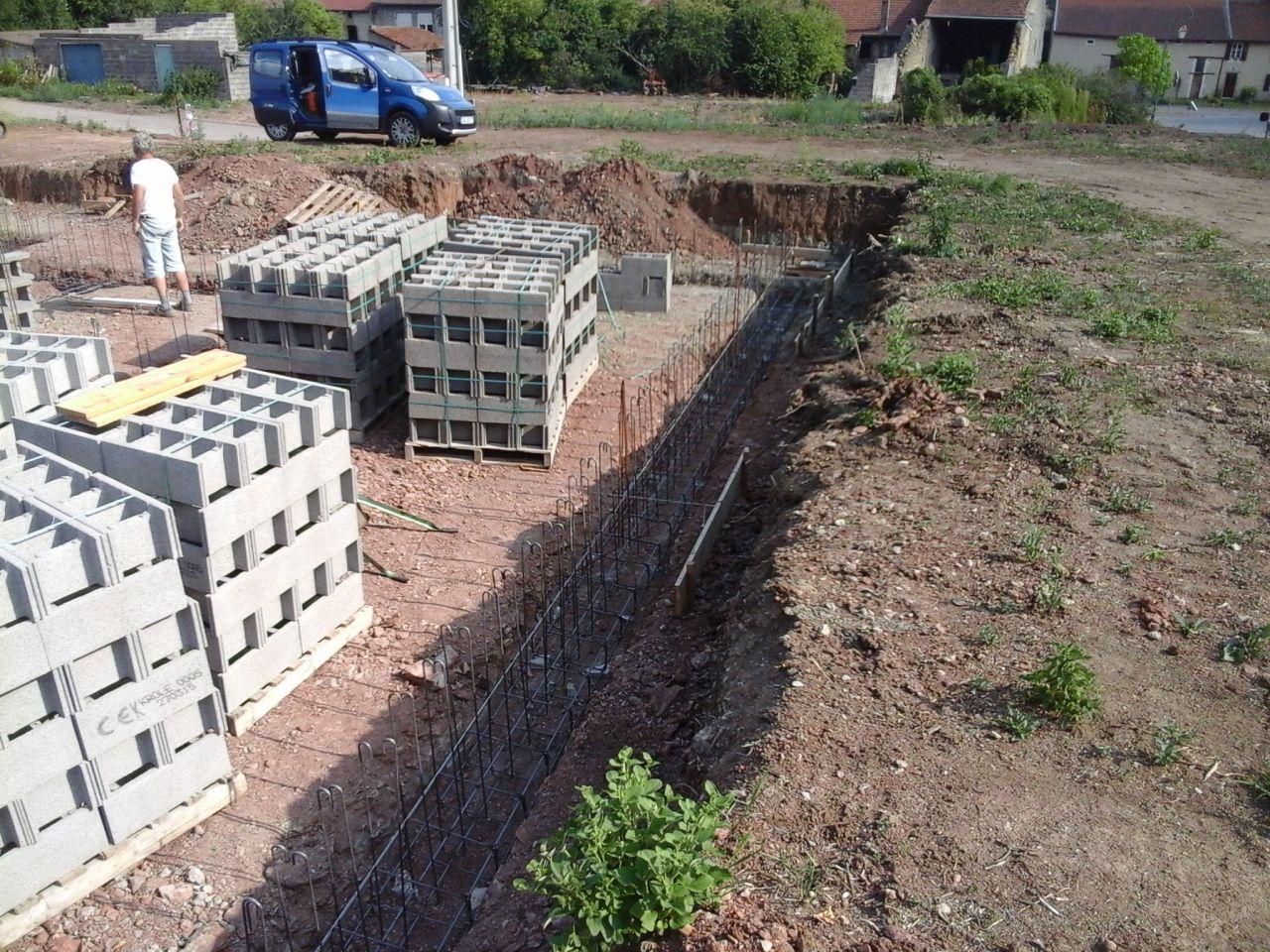 Autoconstruction en b ton cellulaire moselle - Coffrage baignoire beton cellulaire ...