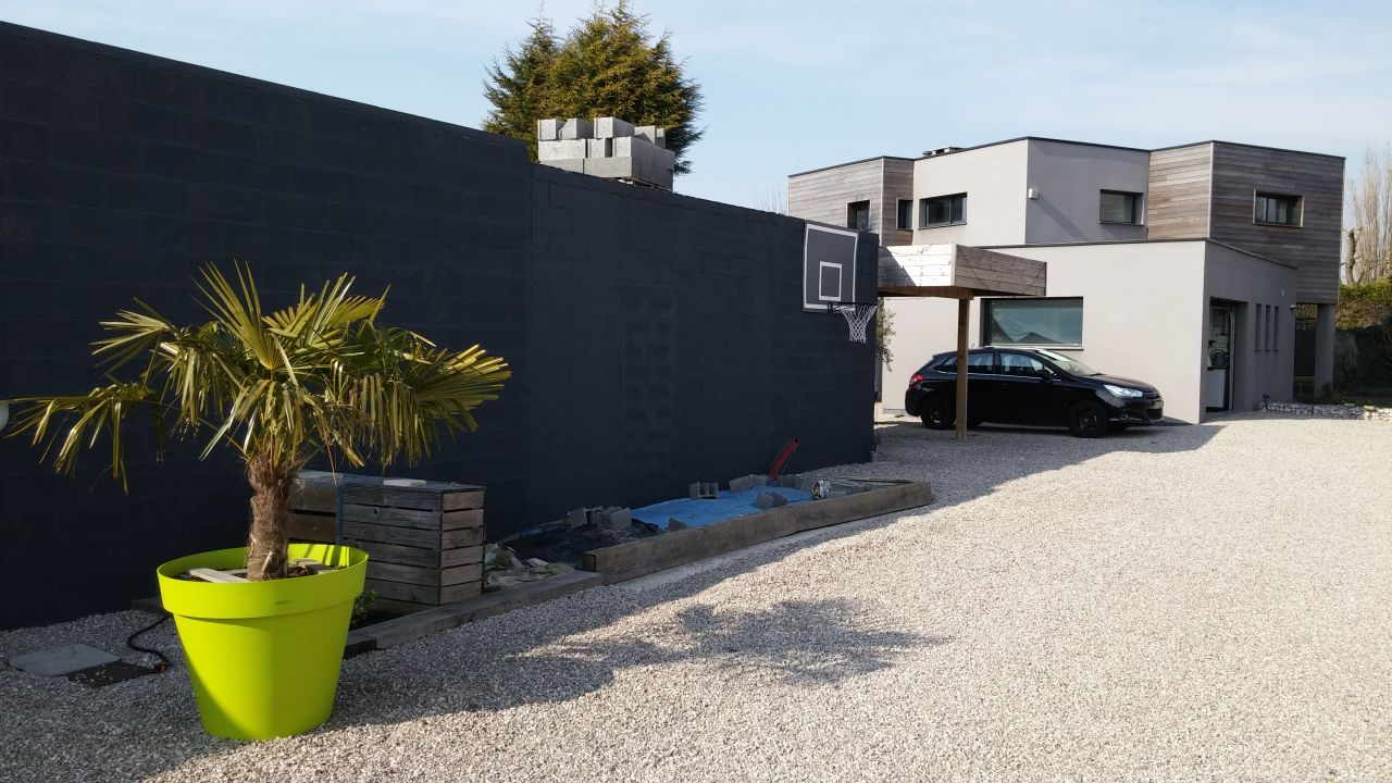 photo 201504 peinture de fa ade gris anthracite. Black Bedroom Furniture Sets. Home Design Ideas