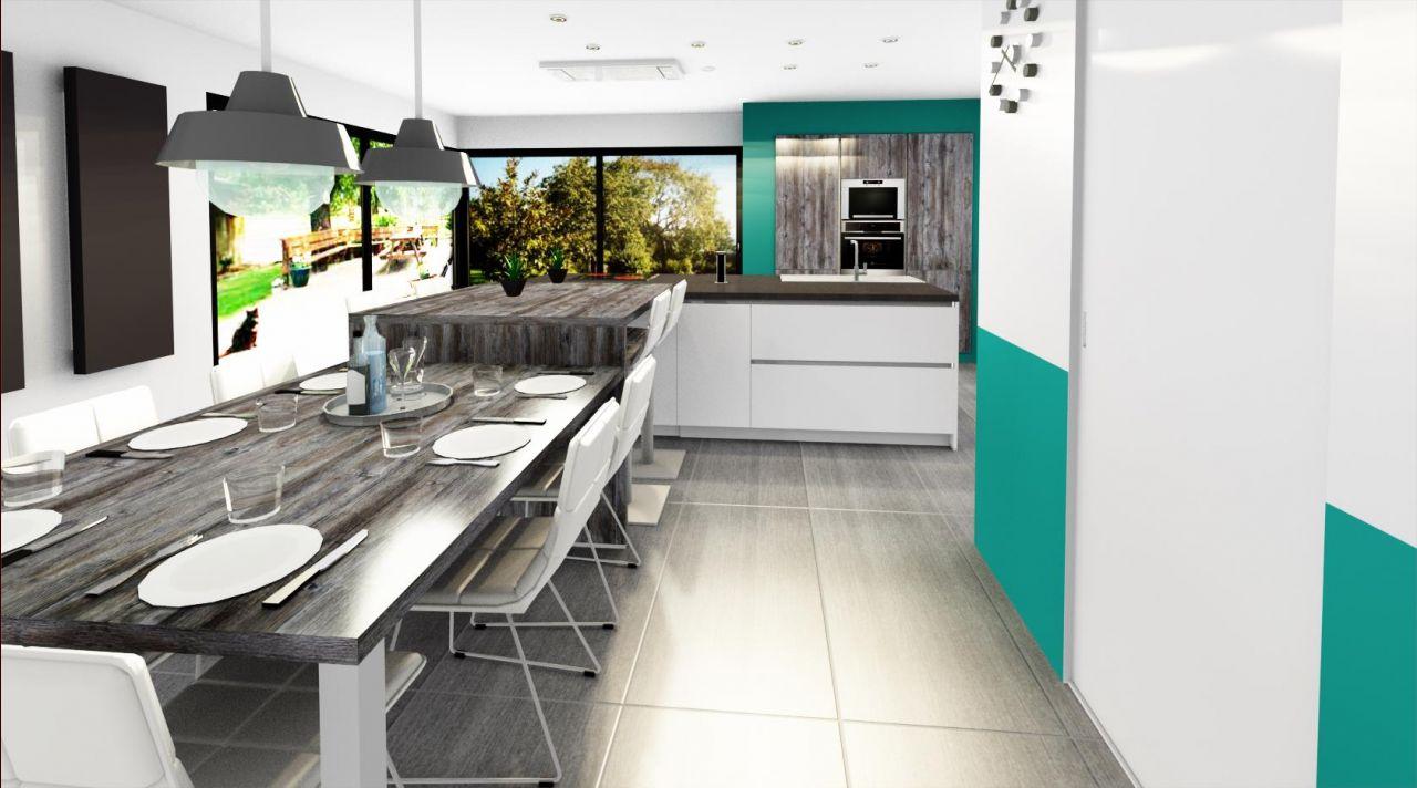 Rendu 3D de la cuisine (Schmidt)