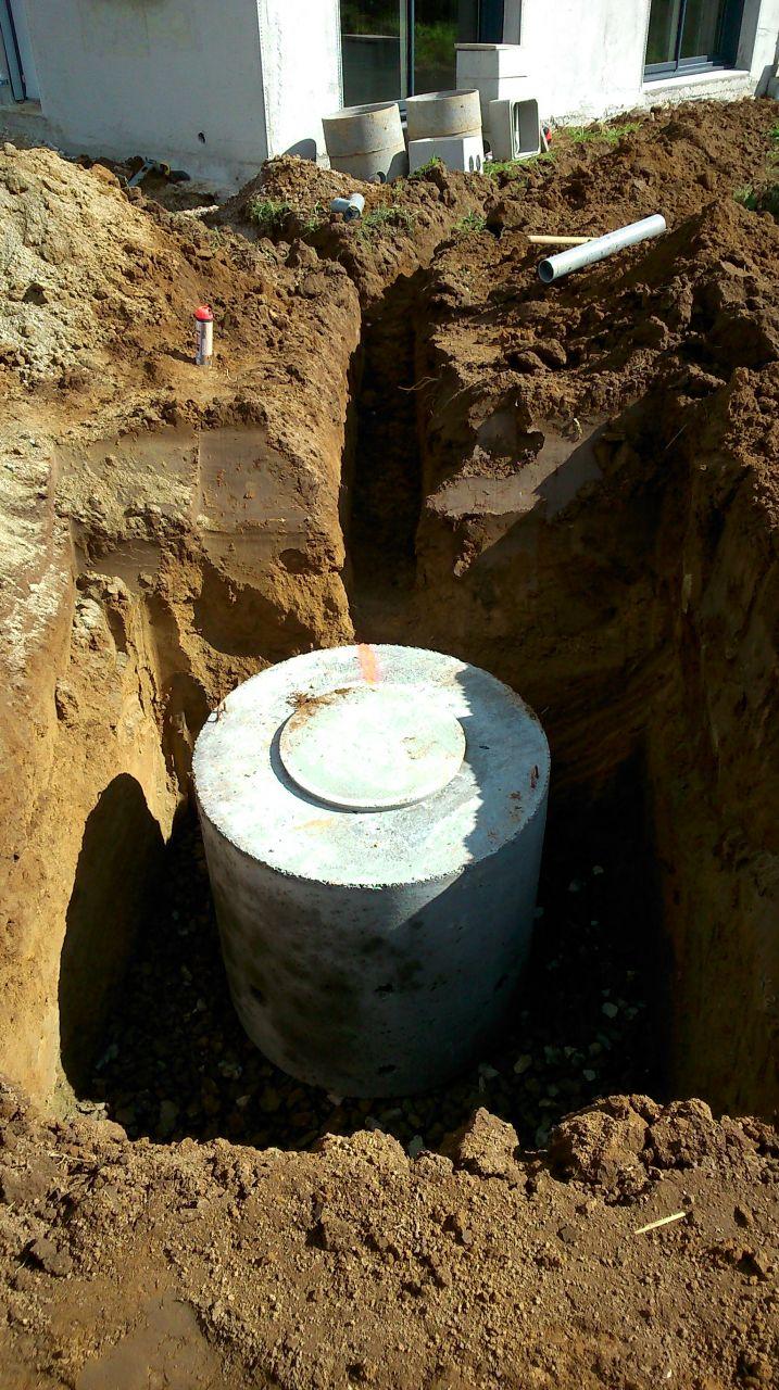 puits filtrant qui récupère les eaux pluviales