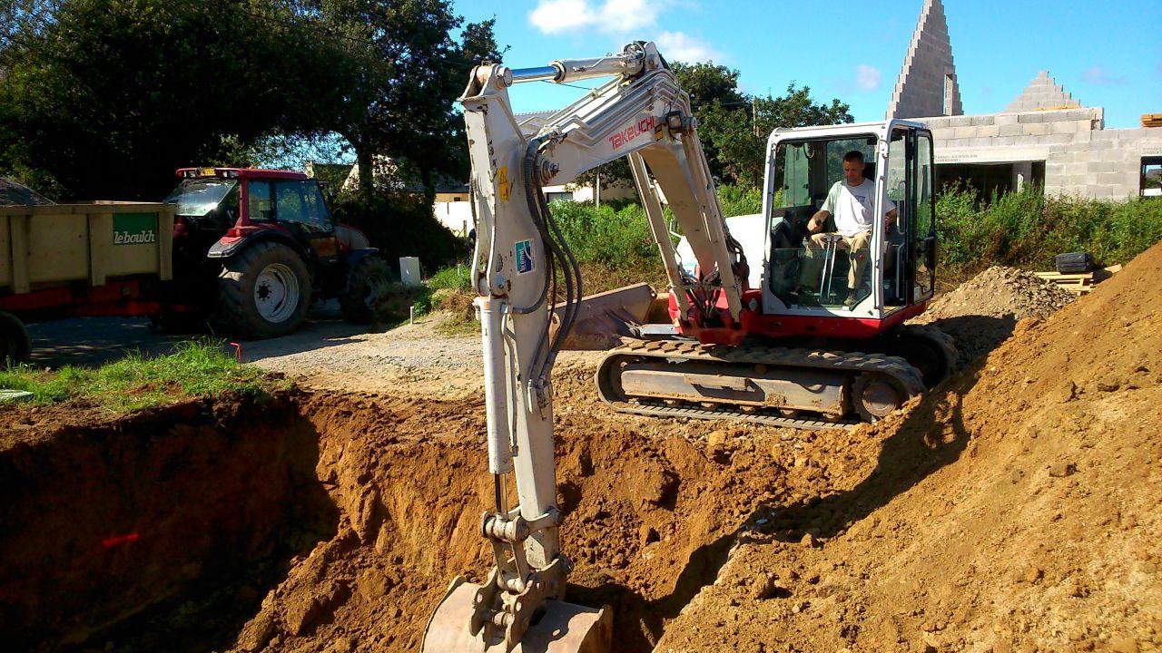 terrassement pour le filtre à sable