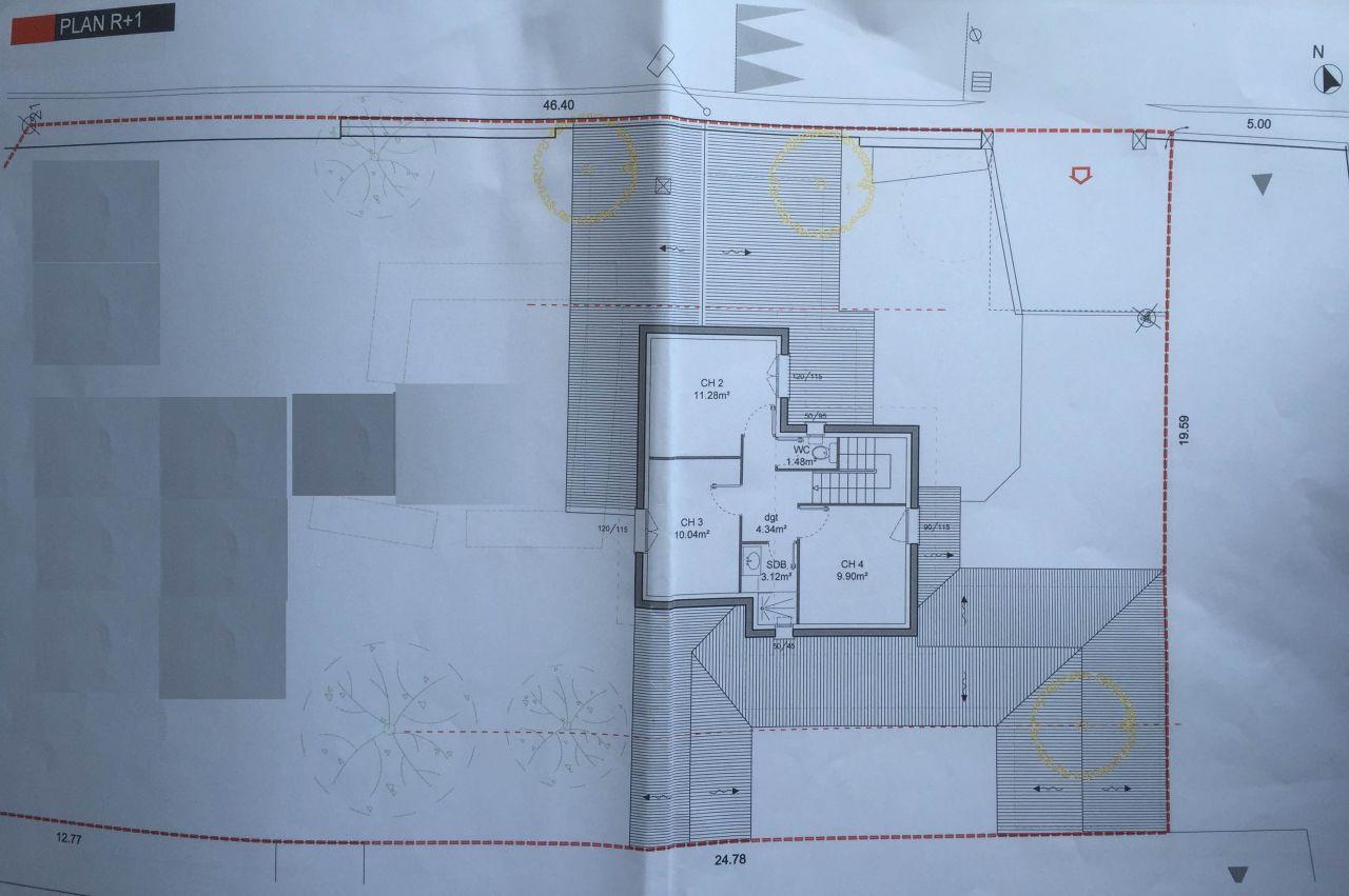 plan du 1er étage.