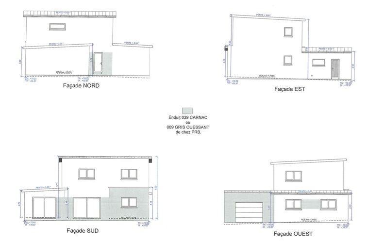 vues des façades de la maison