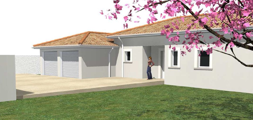 Photo ajout du garage sur le plan plan de maison lot for Ajout garage maison