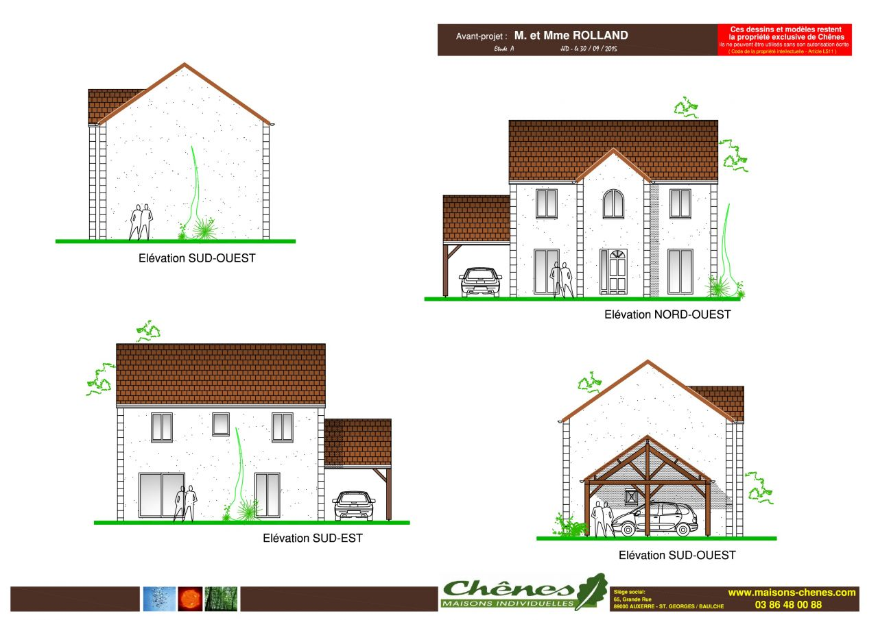 Photo fa ade de la maison en r 1 plan de maison seine for Plan de maison facade