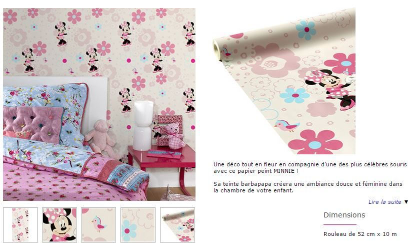 pour la chambre de Margaux : sous bassement en Minnie, peinture rose barbapapa